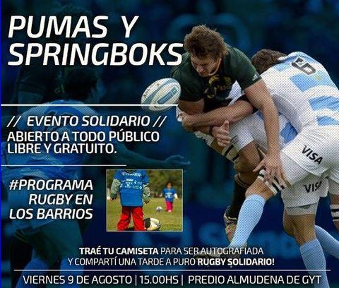 Rugby en Los Barrios junto a Los Pumas y Springboks