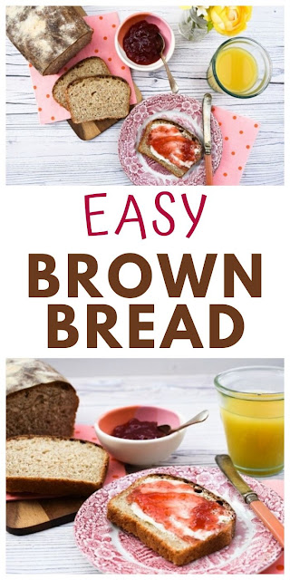 Basic Wholemeal Bread (Brown Sandwich Loaf). An easy bread you can bake at home with tips on where to get flour and yeast and how to knead. This is a good all round loaf. #howtomakebread #homemadebread #brownbread #wholemealbread #bread #veganbread #easybread #easybrownbread