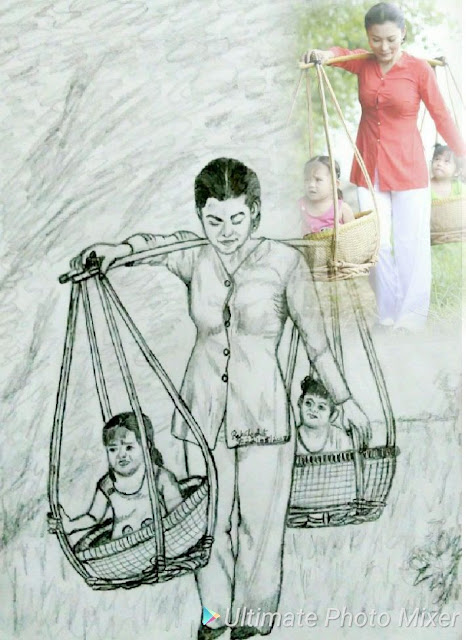 PENCIL DRAWING - MOTHER