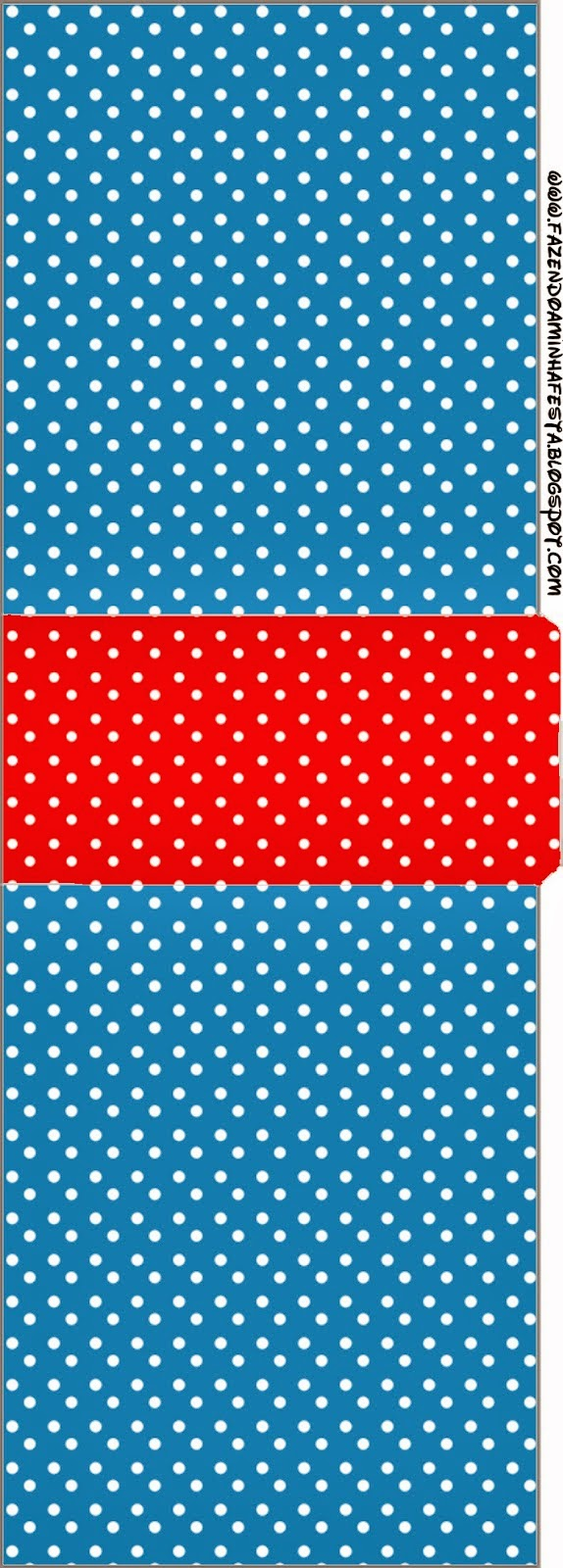 Etiqueta Tic Tac para imprimir gratis de Rojo, Amarillo y Azul.