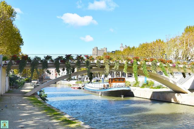 Pasarela de las barcas en Narbonne