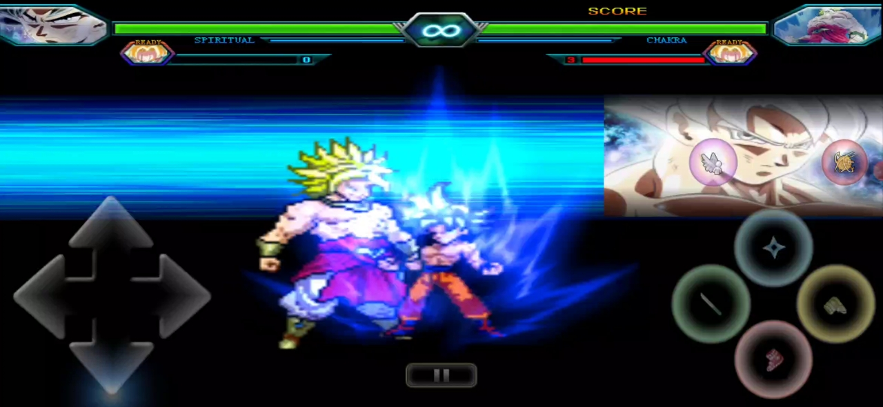 Goku Ultra Instinct Vs Broly DBZ Mugen Game