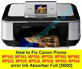 Easyfixs Canon Mp540 Mp550 Mp560 Mp620 Mp630 Mp640 Series Error 5b00 5b01