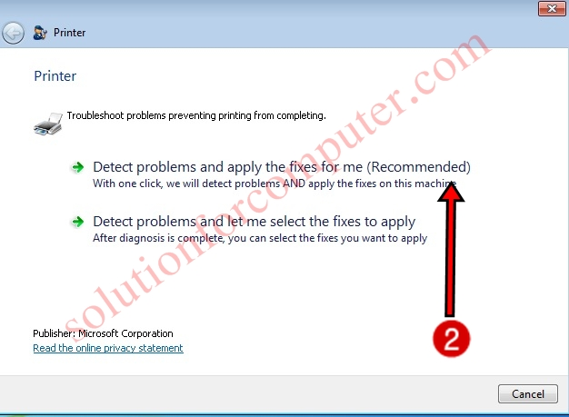 Repair Print spooler service by Microsoft fix it tool
