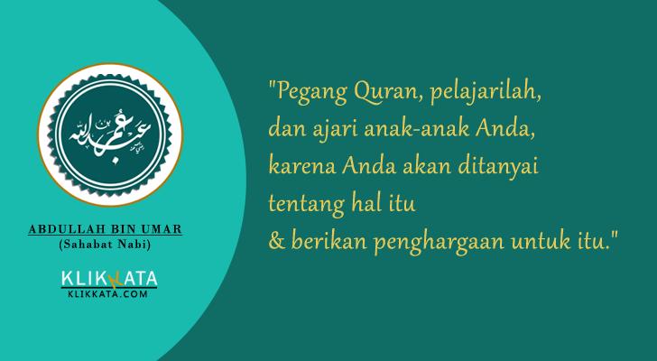 Kata Kata Bijak Abdullah bin Umar