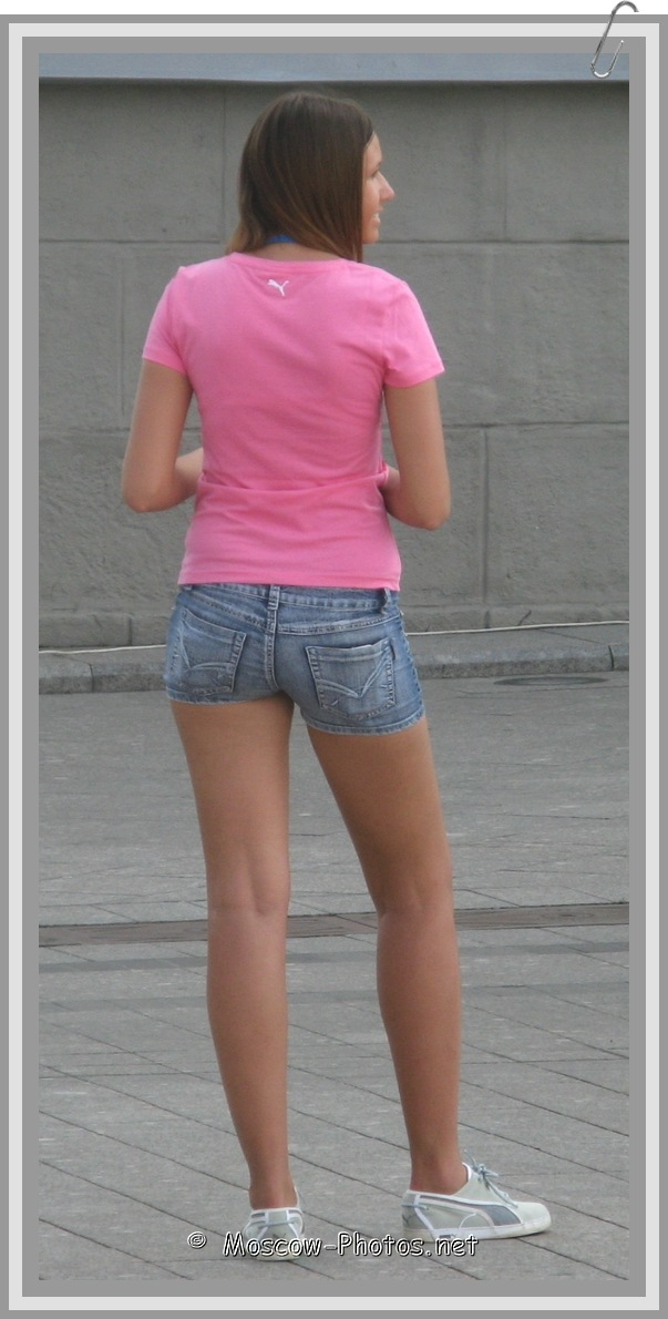 Moscow Girl In Pink Puma Shirt