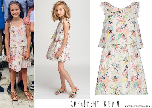 Princess Athena wore Carrement Beau floral print dress