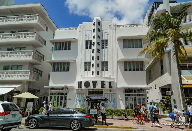 Congress Hotel, arquitetura art déco em Miami Beach