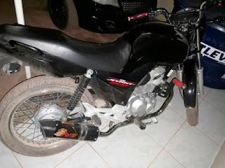 Moto recuperada pela policia