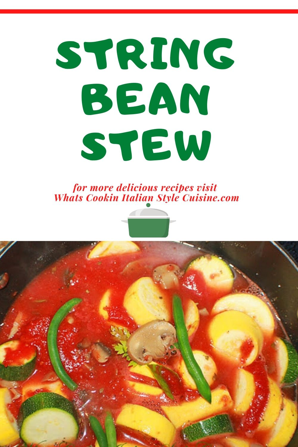 String Bean Stew pin for later