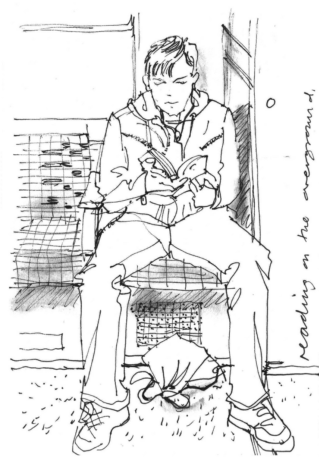 lineandwash: reading on the overground