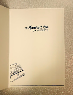 Geared Up Garage, masculine card, Stampin Up, Art with Heart, blog hop, Andrea Sargent, AWHT, embossing