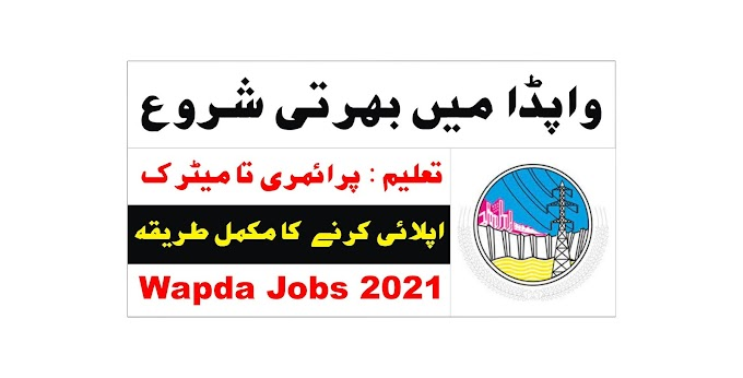 Latest Govt Jobs in Pakistan 2021 – Wapda Jobs 2021