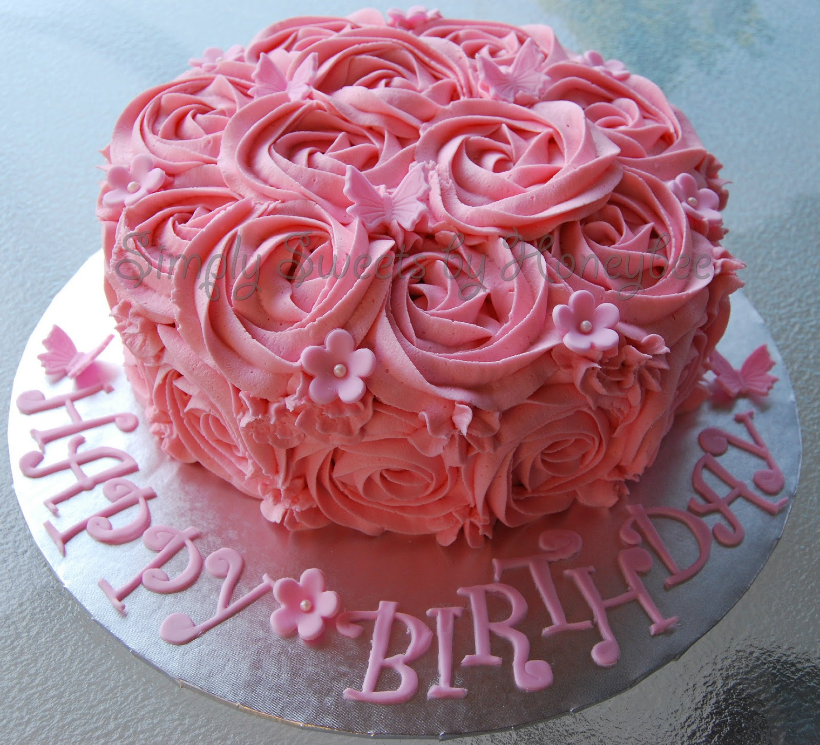 Two Birthday Cakes Simplysweetsbyhoneybee