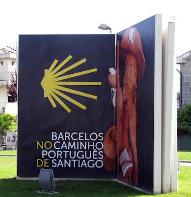 Mural do Caminho de Santiago em Barcelos