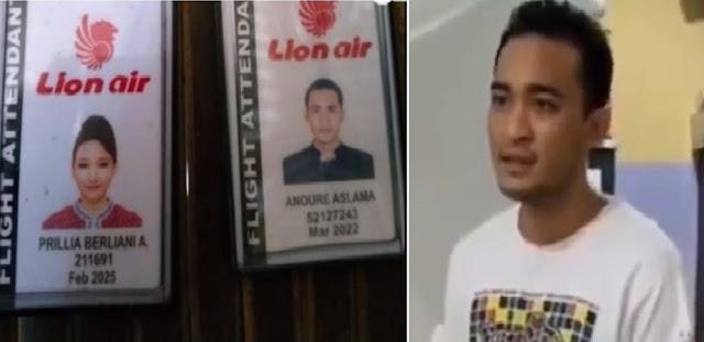 Pramugari dan Pramugara Ketahuan Selingkuh, Lion Air Pecat Prillia Berliani dan Anoure Aslama.lelemuku.com.jpg