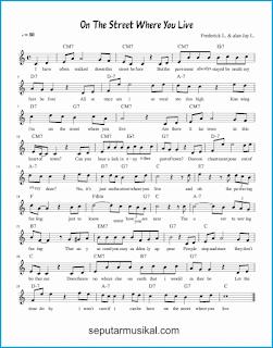chord on the street where you live lagu jazz standar