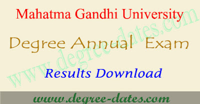 MGU degree results 2018 Mahatma Gandhi university ug result date