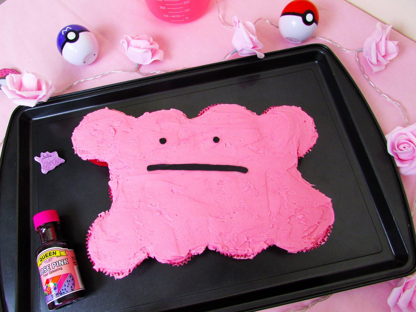 Ditto Pull Apart Cupcake Cake ♡ Pokémon Recipe