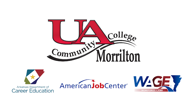UACCM, Arkansas Department of Career Education, American Jobs Center, Wage logos