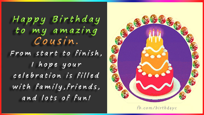Birthday Wishes for Cousin, Birthday Card