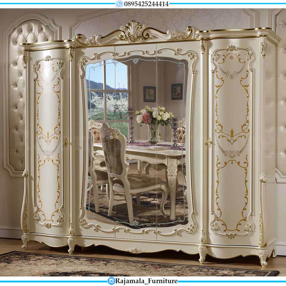 Harga Lemari Pakaian Mewah Kaca Luxury Carving Marquetry Style RM-0559