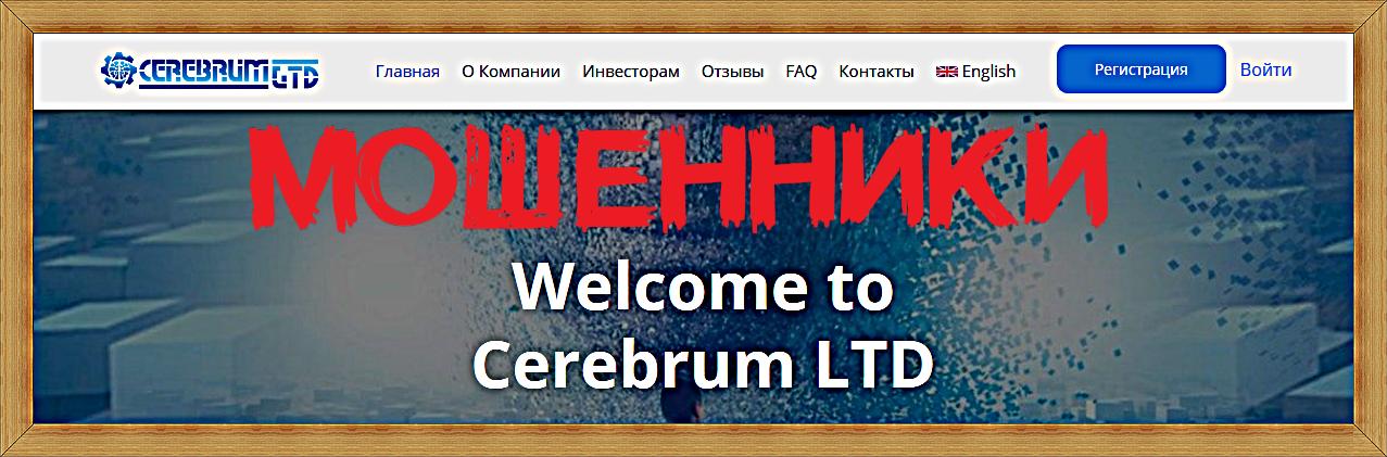 Мошеннический сайт cerebrum-ltd.com – Отзывы, развод, платит или лохотрон?