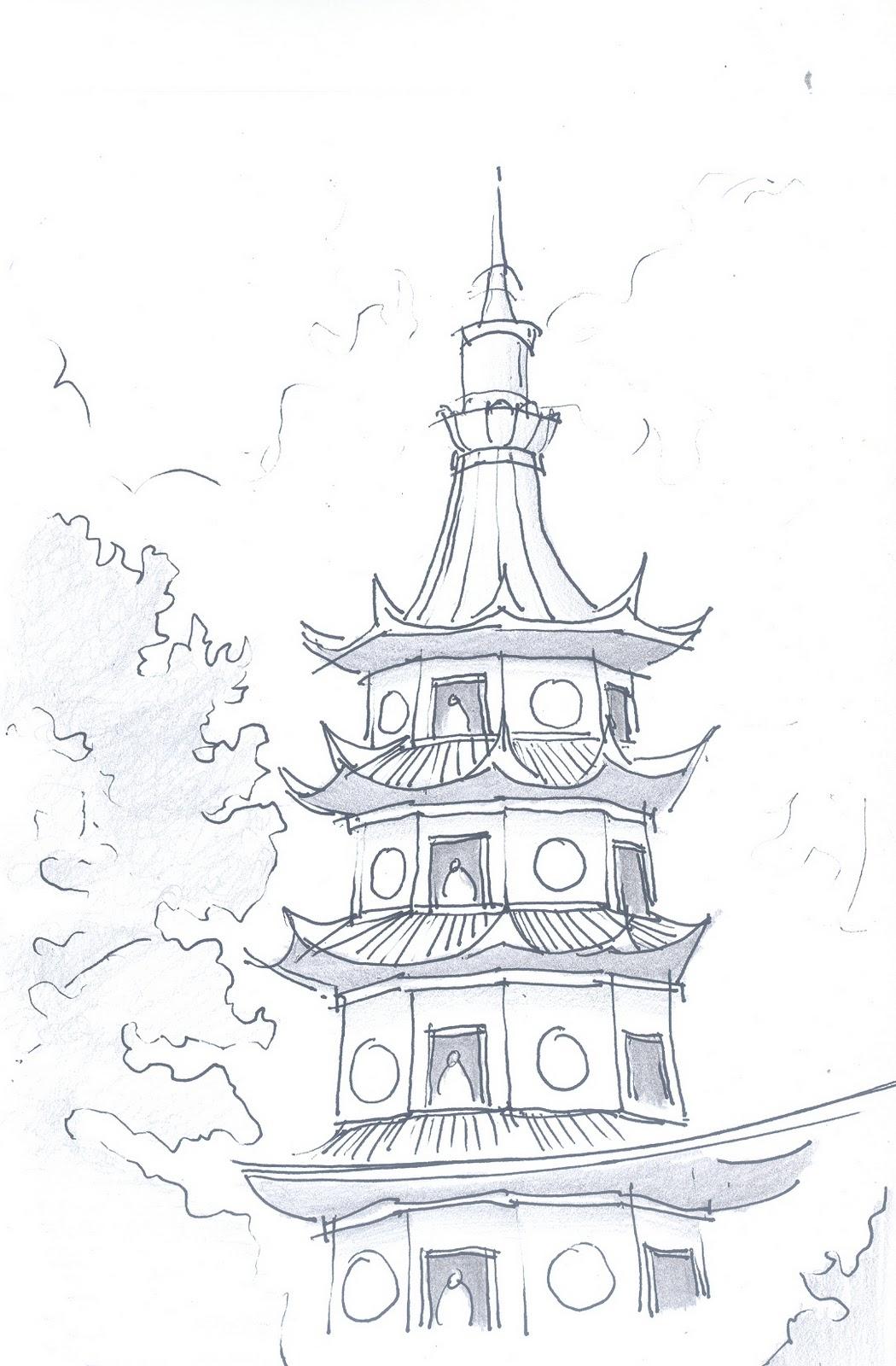 YUSA's SKETCH BOOK: Pagoda
