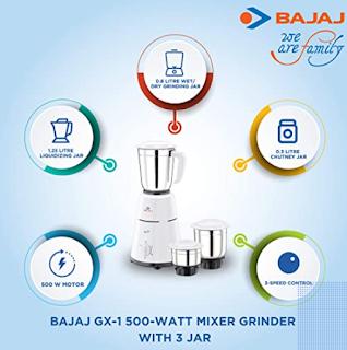 1)Bajaj GX-1 mixer grinder