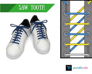 Cara Mengikat Tali Sepatu Miring (Saw Tooth)