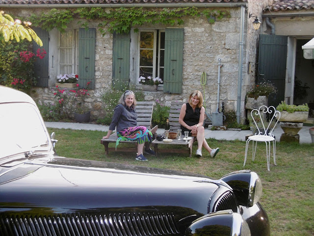 Champagne and nibbles at a holiday cottage, France. Photo by Susan Walter.