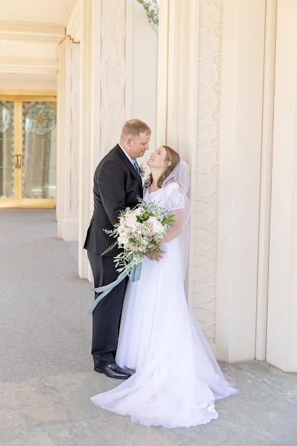 Bride and Groom portraits at Gilbert AZ Temple