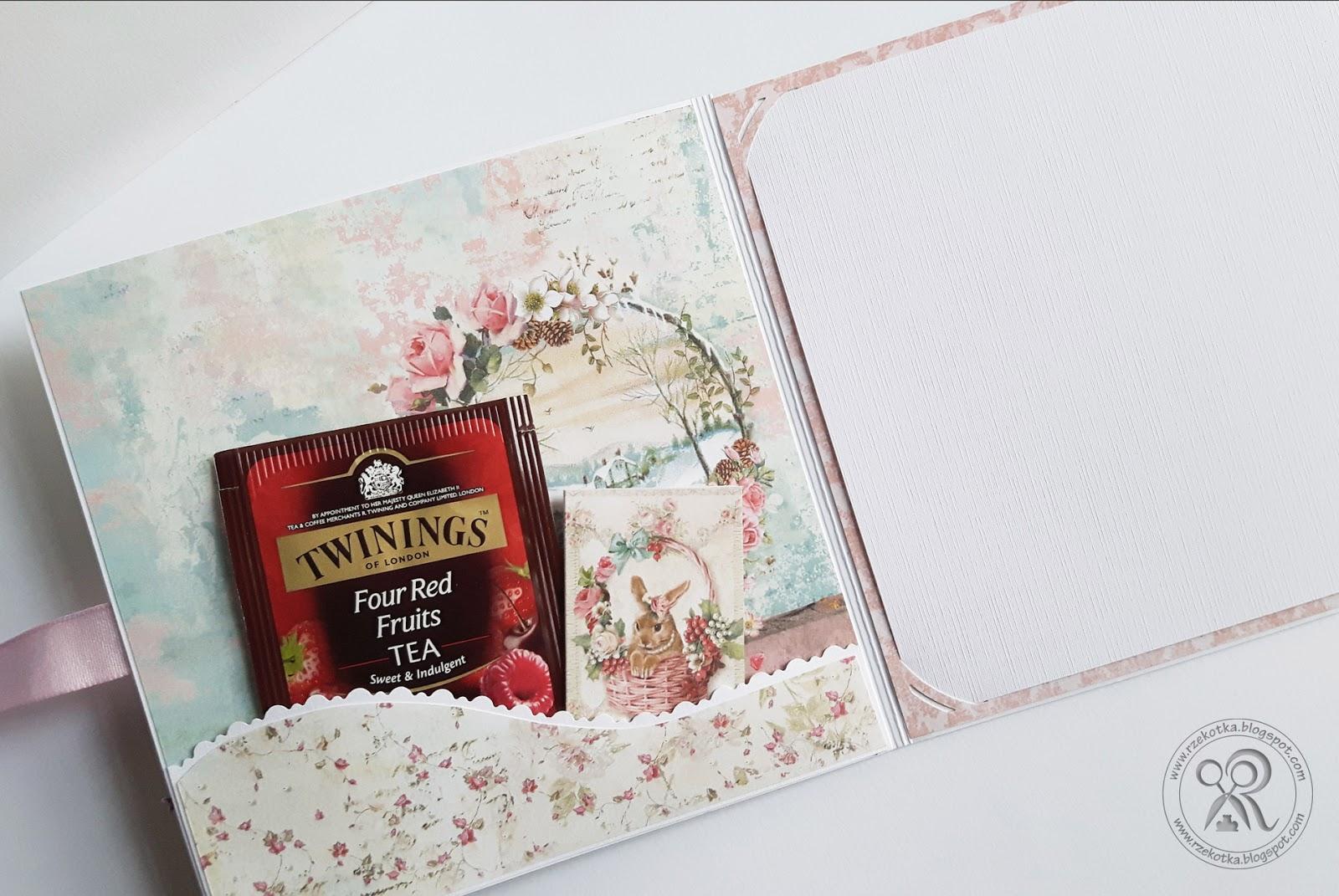 Kartka świąteczna z herbatką
