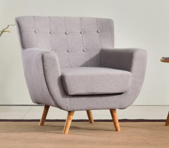 Light Grey Mini Single Sofa Kids for Livingroom Furniture