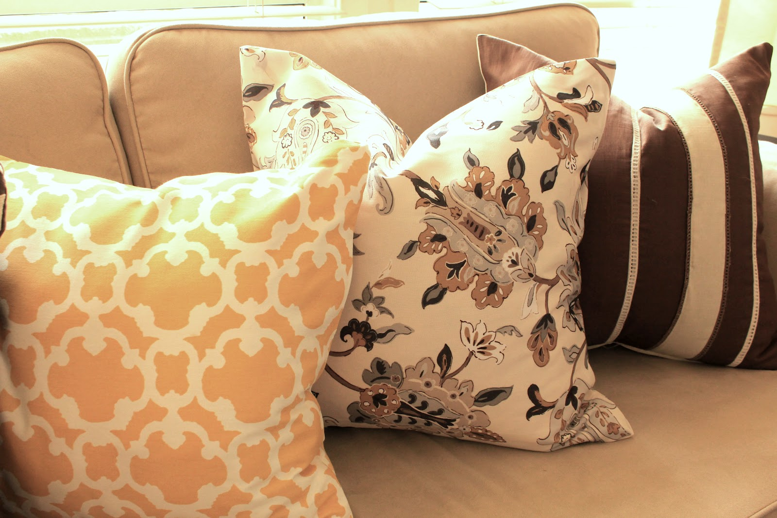 Cup Half Full: DIY - No Sew Throw Pillows