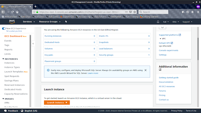 Launch Instance on AWS