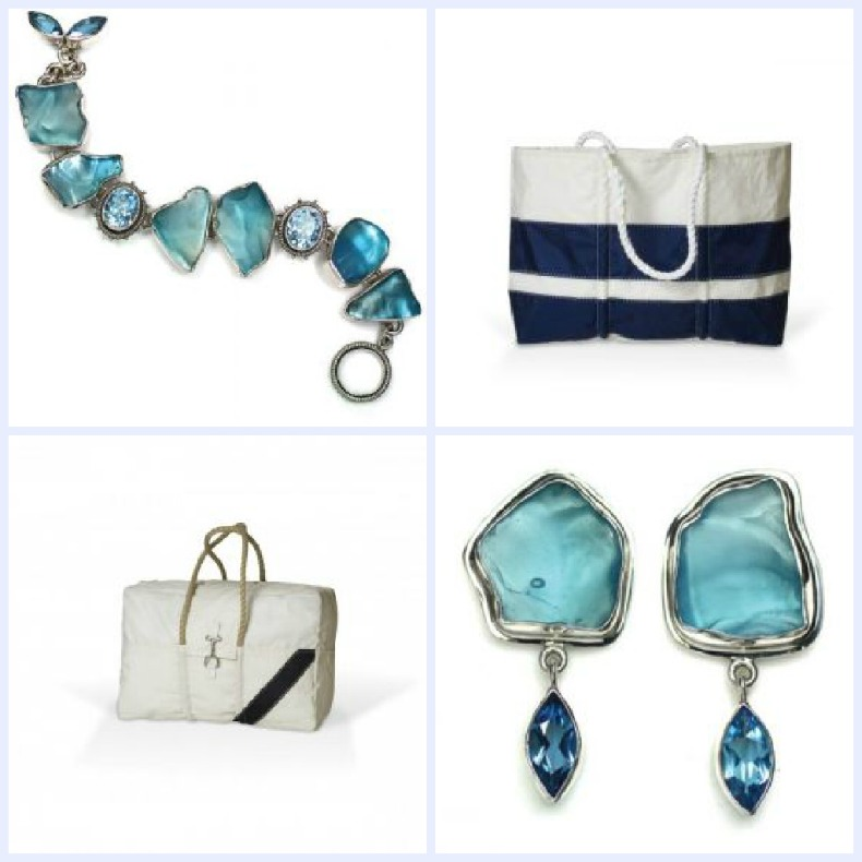 Coastal gifts for her, seaglass jewelery
