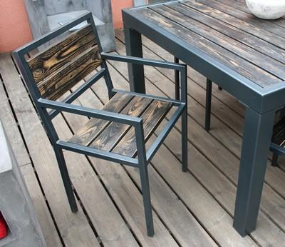 nouveaut la table sam bois et m tal le blog de loftboutik. Black Bedroom Furniture Sets. Home Design Ideas