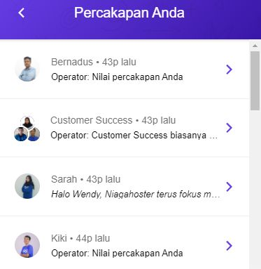 Layanan Live Chat Niagahoster