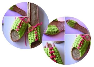 Como hacer Zapatillas de Crochet con suela de esparto