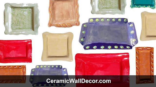 Decorative pottery plates