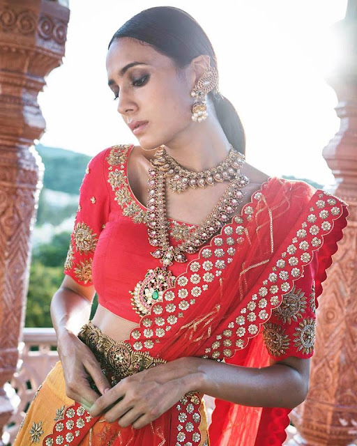 Model in Temple Jewellery