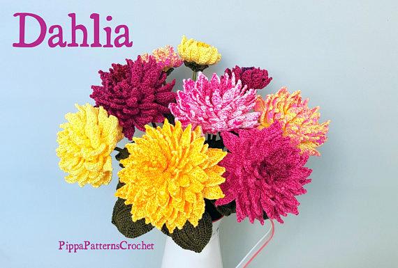 dahlia flower crochet pattern
