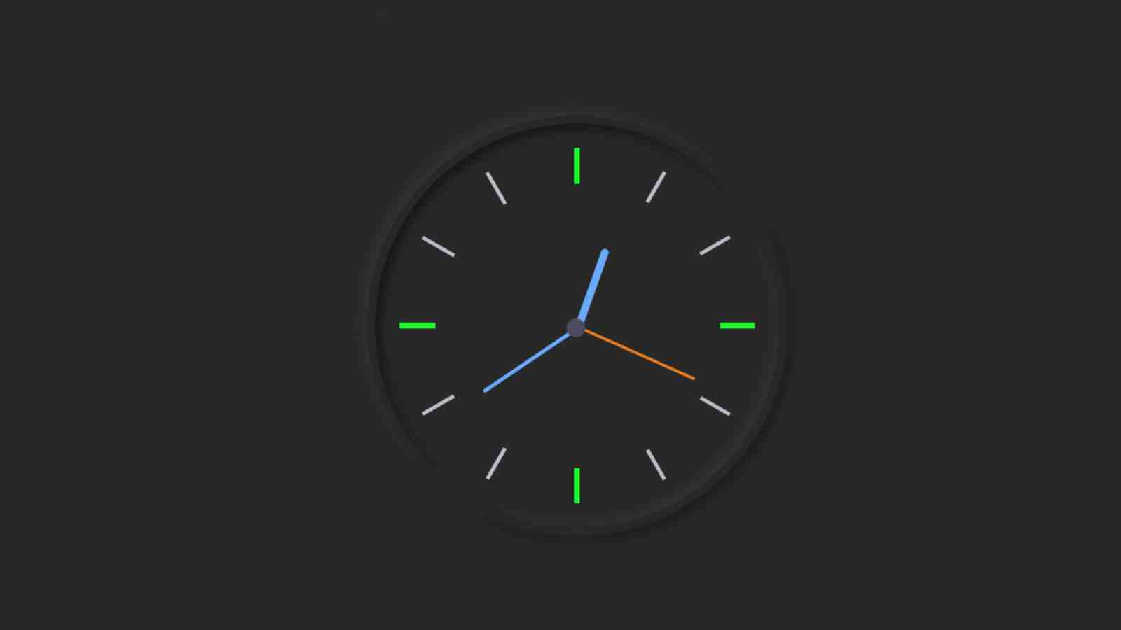 Activate the clock with JavaScript code