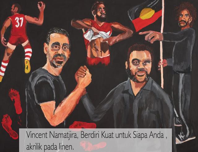 Vincent Namatjira Menjadi Pemenang Pribumi Pertama Hadiah Utama Seni Australia