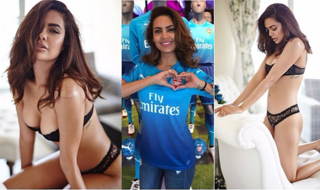 Esha Gupta Turns Seductress in Sexy Lingerie,Esha Gupta, Arsenal Fan