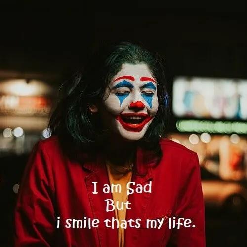 Joker girl Sad but smile DP