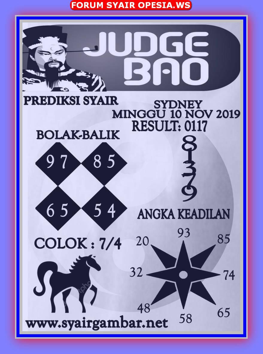 Kode syair Sydney Minggu 10 November 2019 12