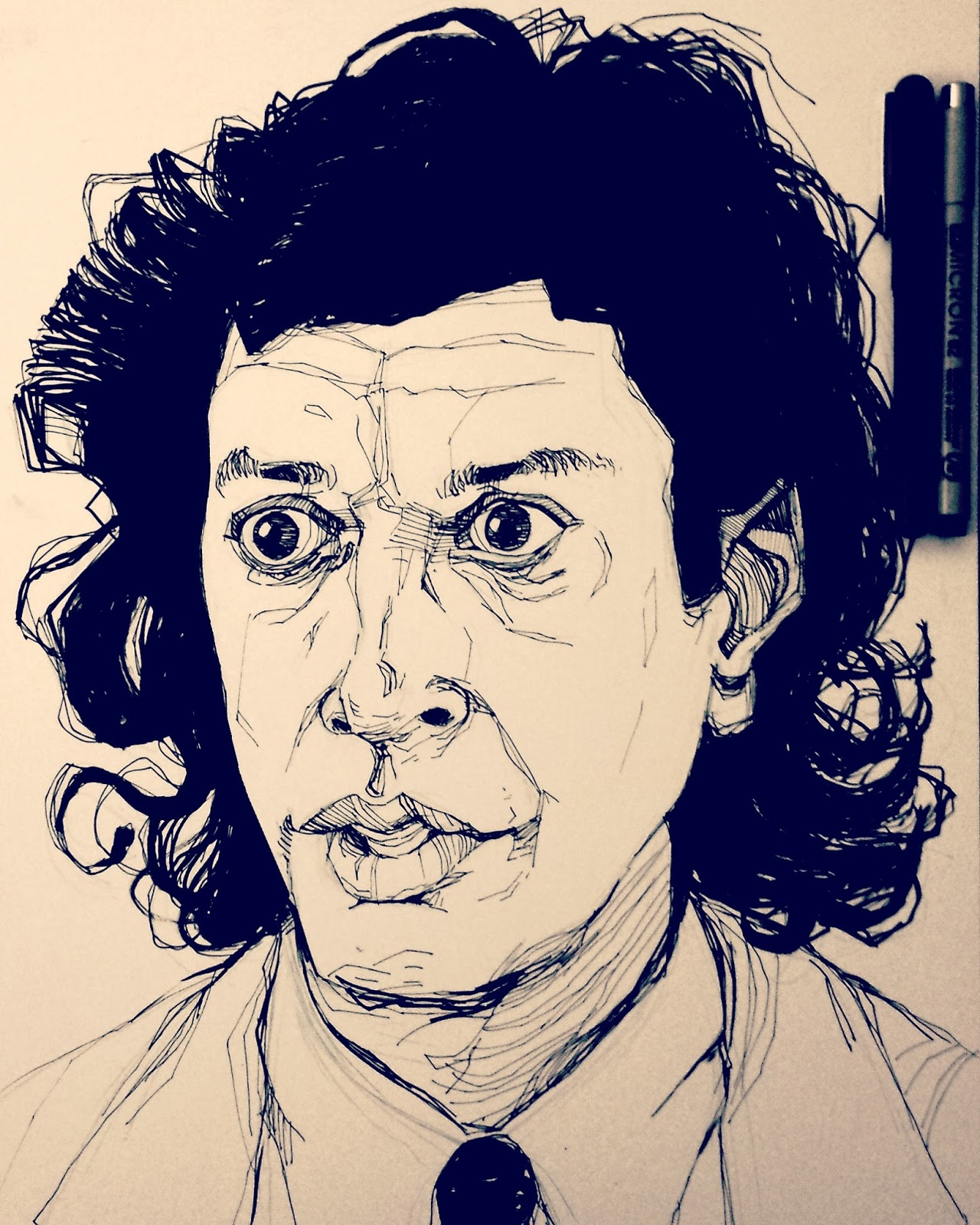 Seth Brundle Jeff Goldblum Illustration