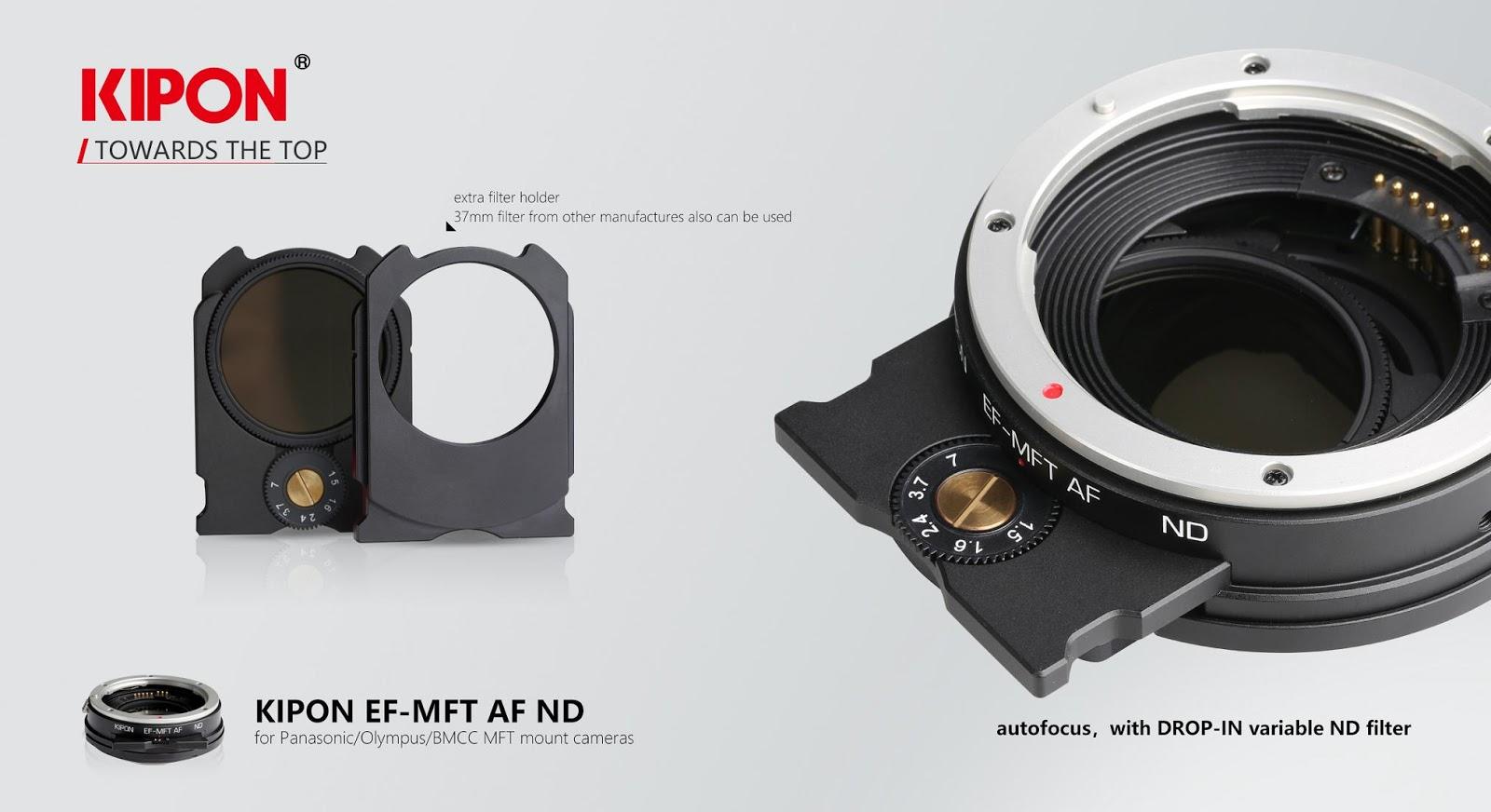 Рекламный баннер для автофокусного адаптера Kipon EF-MFT AF ND